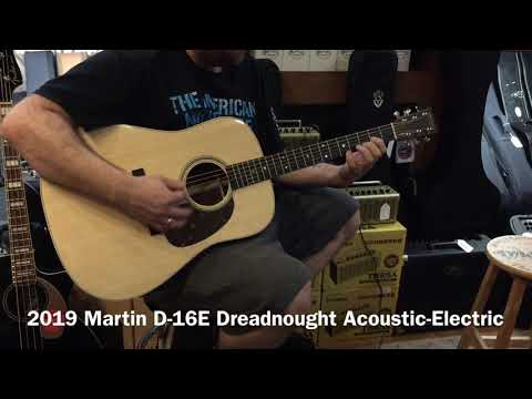 2019 Martin D-16E Dreadnought Acoustic-Electric Guitar