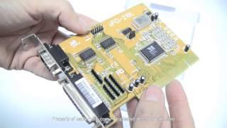 Tarjeta PCI Serie/Paralelo 16C550 VSCOM (2S/1P) distribuido por CABLEMATIC ®