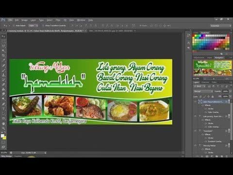 Contoh Spanduk Untuk Jualan Makanan - desain spanduk kreatif