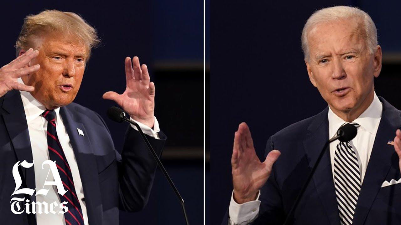 Biden and Trump clash over debate schedule and format   Los ...