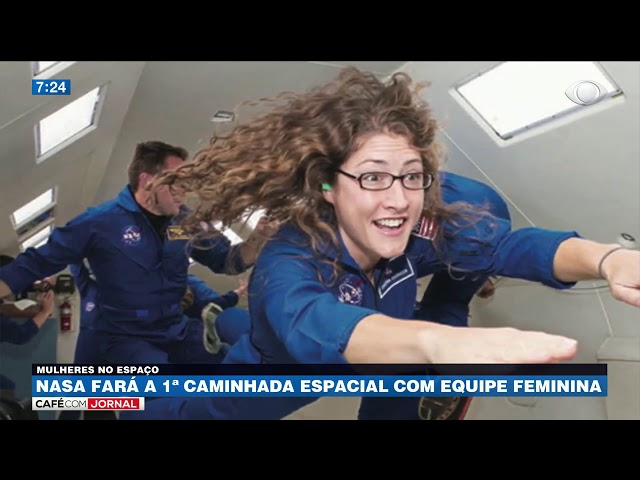 Nasa fará a 1ª caminhada espacial com equipe feminina