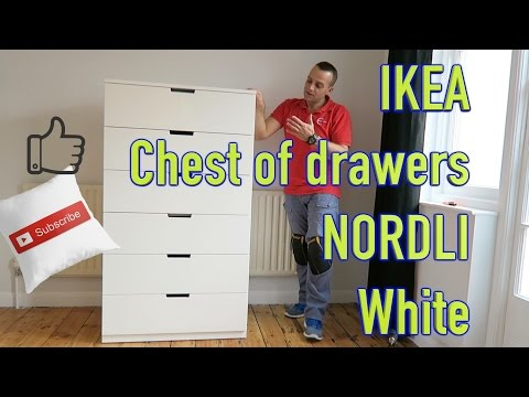 competitive price a870d cb0bc IKEA Chest of drawers NORDLI White Assembly - YouTube