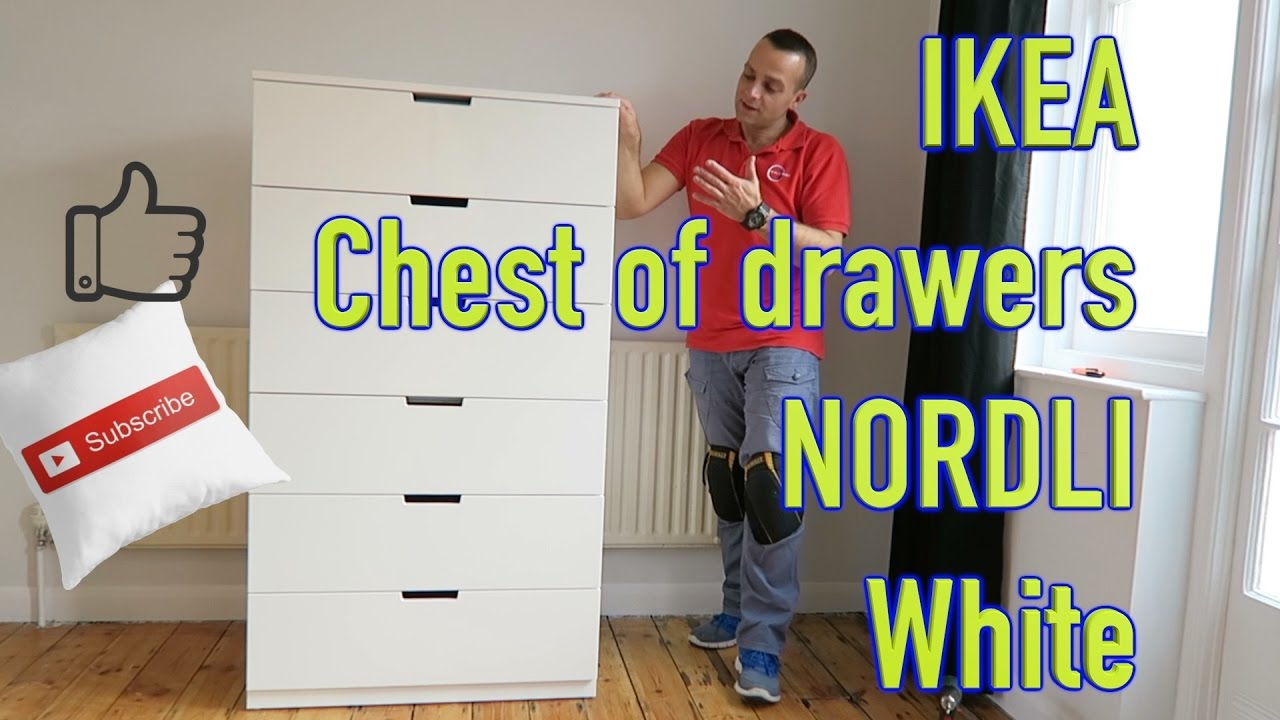 Ikea Chest Of Drawers Nordli White Assembly