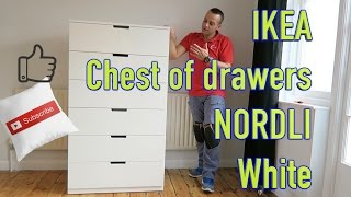 How to assemble IKEA NORDLI chest of drawers. This combination has two Ikea Nordli 3chest of drawers joined together making
