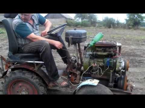 Минитрактор из двигателя зид своими руками