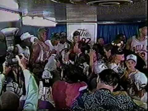 Bulls Celebrate 2nd Championship - 1992