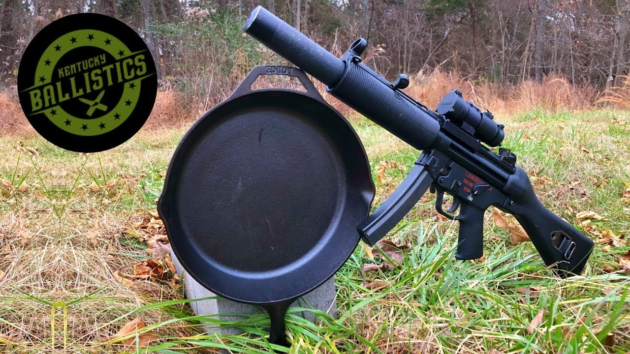 Can A Cast Iron Skillet Stop An MP5? (Full Auto Friday)