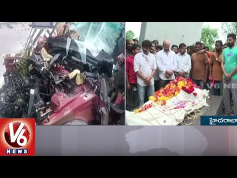 Actor Bharat Final Cremation Rites At Mahaprasthanam Crematorium || V6 News