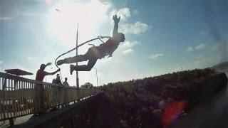 Extreme спорт Роупджампинг: Прыжки Rock&Rope с моста