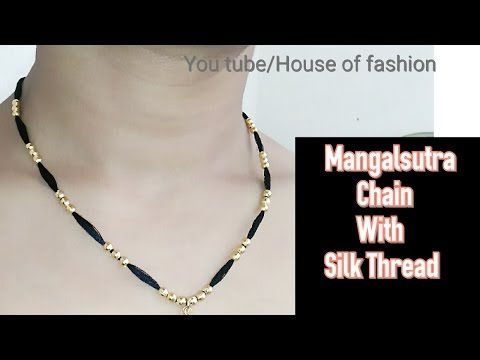 How To Make Mangalsuthra||Silk Thread Necklace