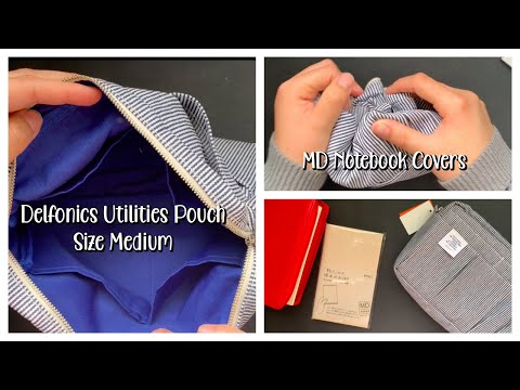 MY FIRST DELFONICS UTILITIES POUCH AND MD NOTEBOOK PAPER COVER | REVIEW