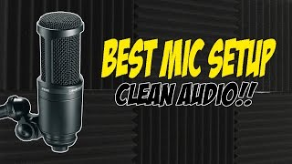Audio Technica at2020 usb plus review! - Best mic setup for clean audio