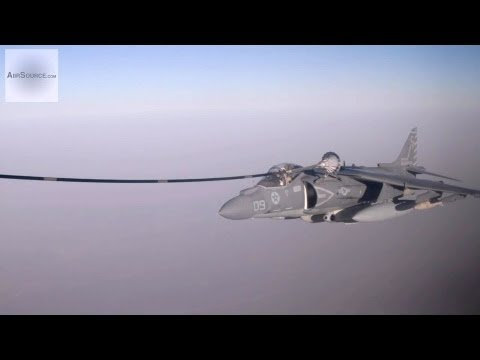 KC-130J Aerial Refuel Mission for Harrier Jets