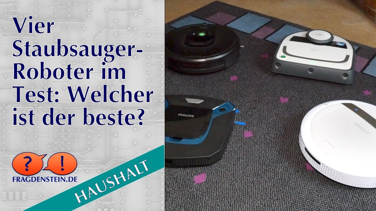 vier staubsauger roboter im test welcher ist der beste youtube. Black Bedroom Furniture Sets. Home Design Ideas
