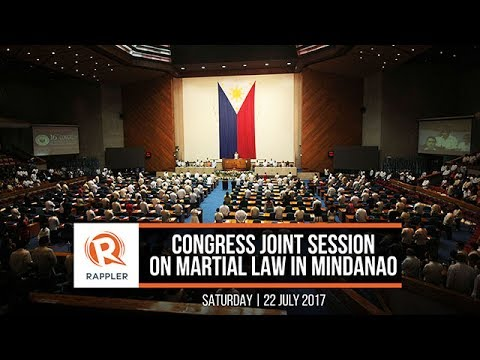LIVE: Congress joint session on martial law in Mindanao