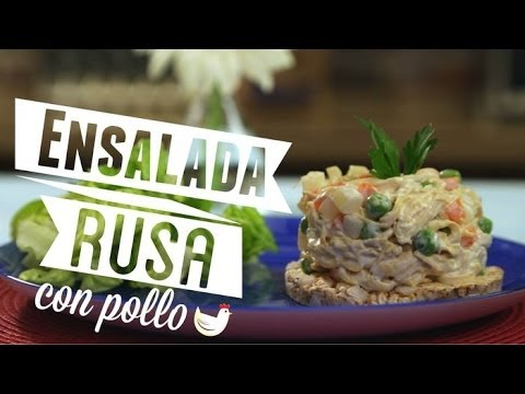 ¿Cómo preparar Ensalada Rusa con Pollo? - Cocina Fresca