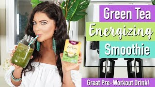 Green Tea Energizing Smoothie (great pre-workout!) | Healthy Smoothie Recipes