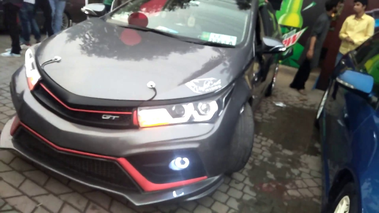 toyota corolla gli fully modified pakwheels lahore auto show youtube