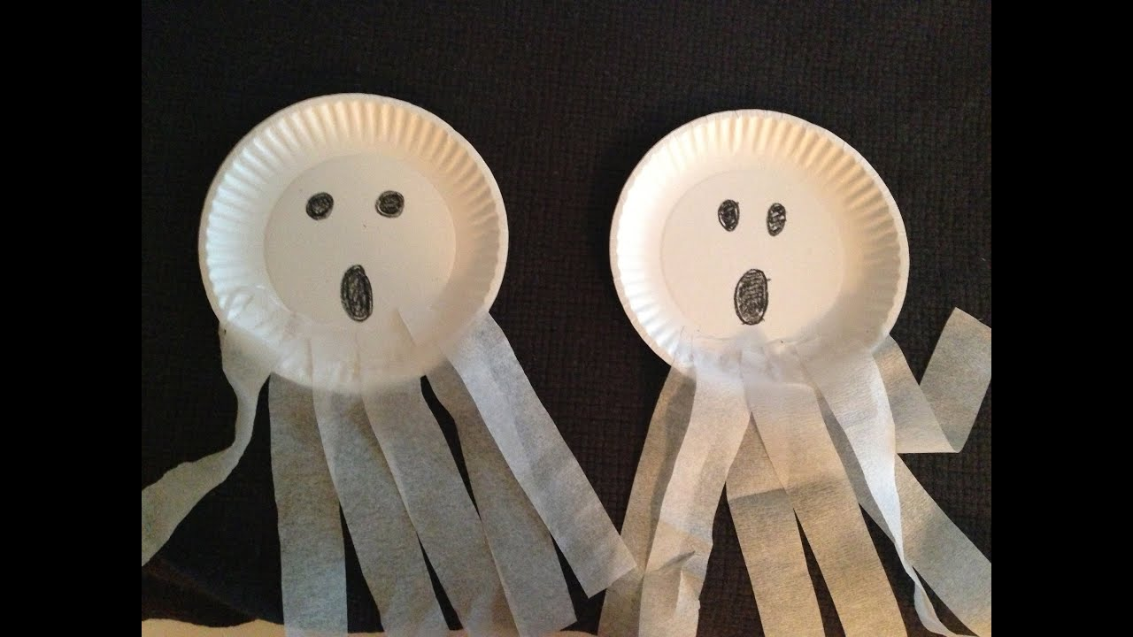 Ghost Paper Plate Craft : paper plate ghost - pezcame.com