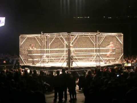 WWE Live Glasgow Hydro Roman Reigns Vs Randy Orton Steel Cage Match