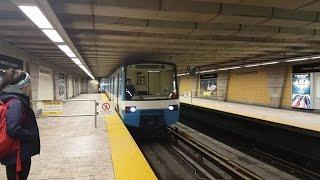 Sortie du métro de Montréal STM la ligne 4 jaune tout le trajet MR-63