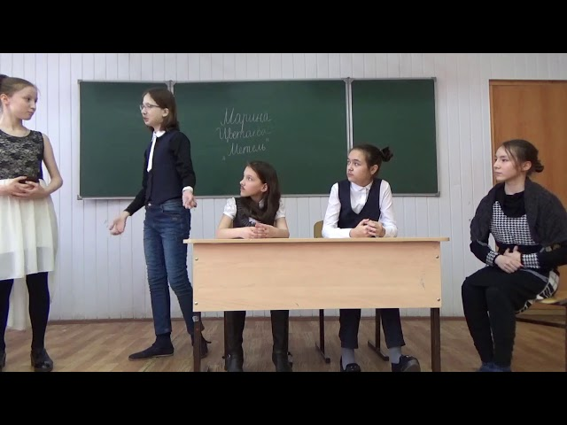 Изображение предпросмотра прочтения – «6а класс» читает произведение «Метель» М.И.Цветаевой