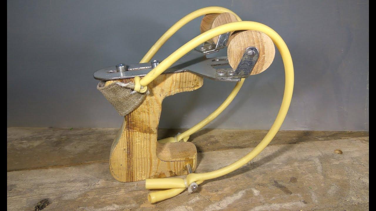 Рогатка увеличенной мощности! How to make heavy duty slingshot/DIY