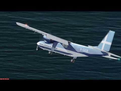 First landing at Fair Isle in BN-2 Islander
