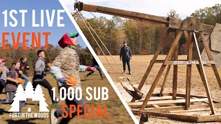 Trebuchet in action ! Our First Live Event! (1000 Sub Special) Pumkin Chunkin NC !!