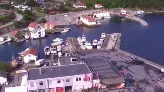 Helikopterflyging på Marknadsdagen i Føresvik