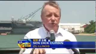 WVEC: Senators Kaine & Durbin Call for End to Sequester on Tour of Newport News Shipbuilding