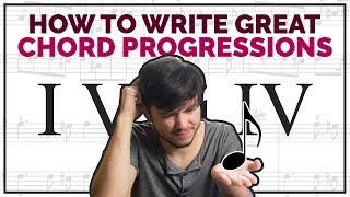 How To Write Chord Progressions Fast - Music Theory (I V vi IV)