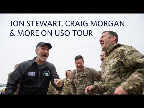 Celebs Jon Stewart, Craig Morgan and More Connect with Troops on USO Spring Tour Around the World