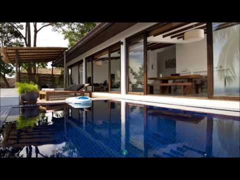 Modern Tropical House With Minimalist Pool Design Carqueija Brazil Tropical Outdoor Pool And Garden