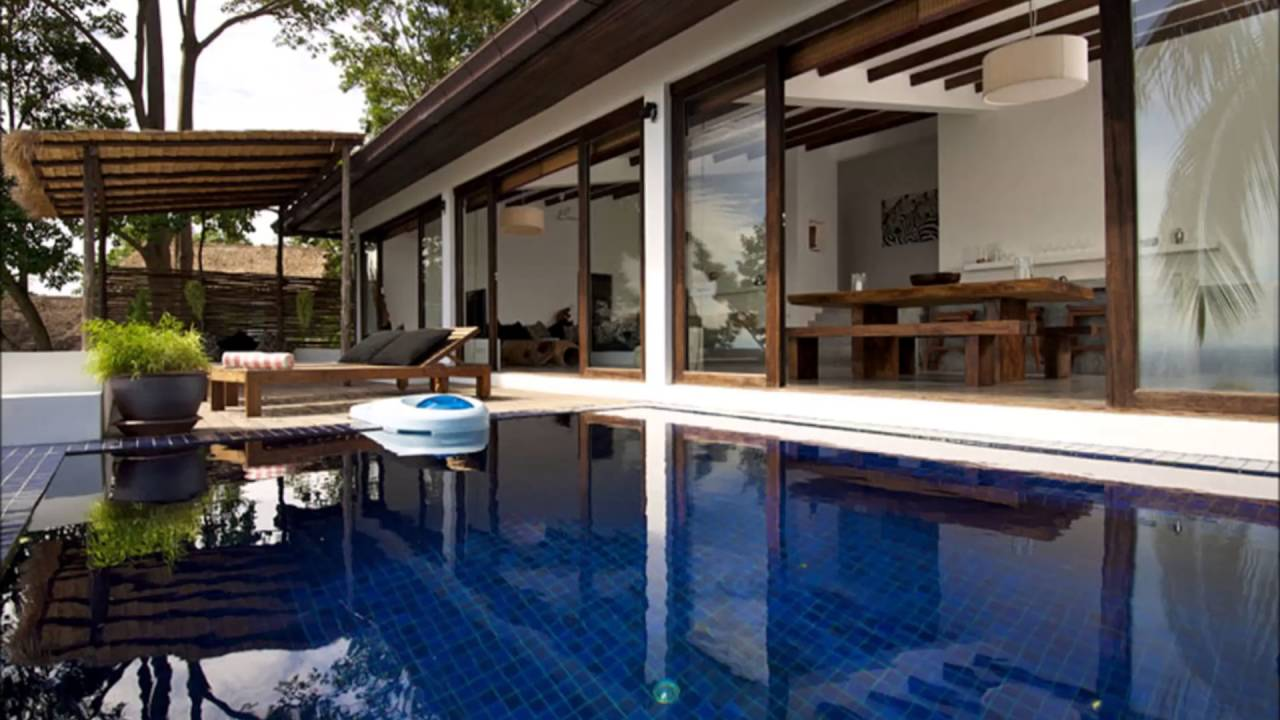 Modern Tropical House With Minimalist Pool Design Carqueija Brazil