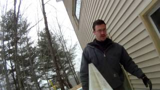 Build Temporary Lower Garage Doors (fill The Holes) - 83 - My Diy Garage Build Hd Time Lapse