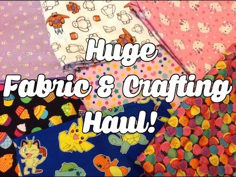 HUGE FABRIC AND CRAFT SUPPLIES HAUL - Jo Ann + Hancock Fabrics