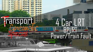 [Special] (BPLRT Power/Train Fault) - 4 Car Lrt push at Bukit Panjang
