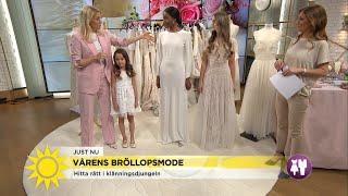 Så väljer du rätt klänning för ditt bröllop - Nyhetsmorgon (TV4)