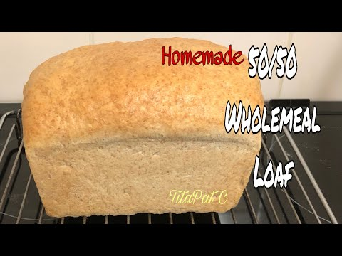 Homemade Half And Half Wholemeal Loaf No Sugar Low Salt Bread Easy Homemade Bread Youtube