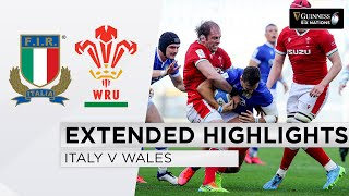 Italy v Wales EXTENDED Highlights Wales Continue Grand Slam March 2021 Guinness Six Nations