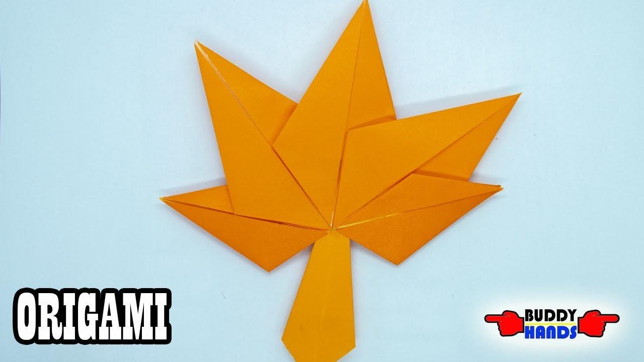 How to make easy ORIGAMI Maple leaf(종이접기 단풍잎) - YouTube - photo#12