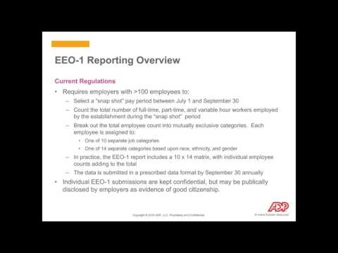 Proposed Revisions to EEO-1 Reporting: The Impact to Employers