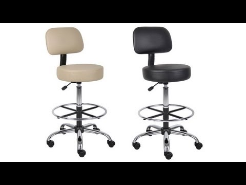 Boss B16245 Caressoft Medical Stool With Back And
