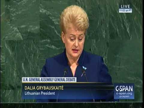 9 19 2017 un speech by Lithuania President Dalia Grybauskaitė