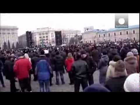 Ukraine  Violent clashes in Kharkiv leave dozens injured..... world news