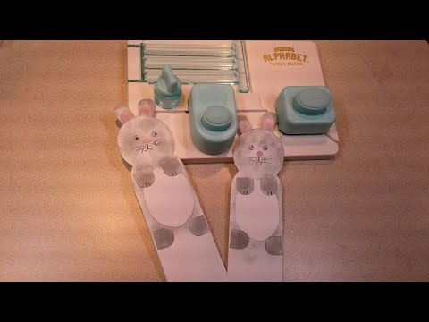 Make A Cute Bunny Bookmark With Mini Alphabet Punch Board | Paper Crafting