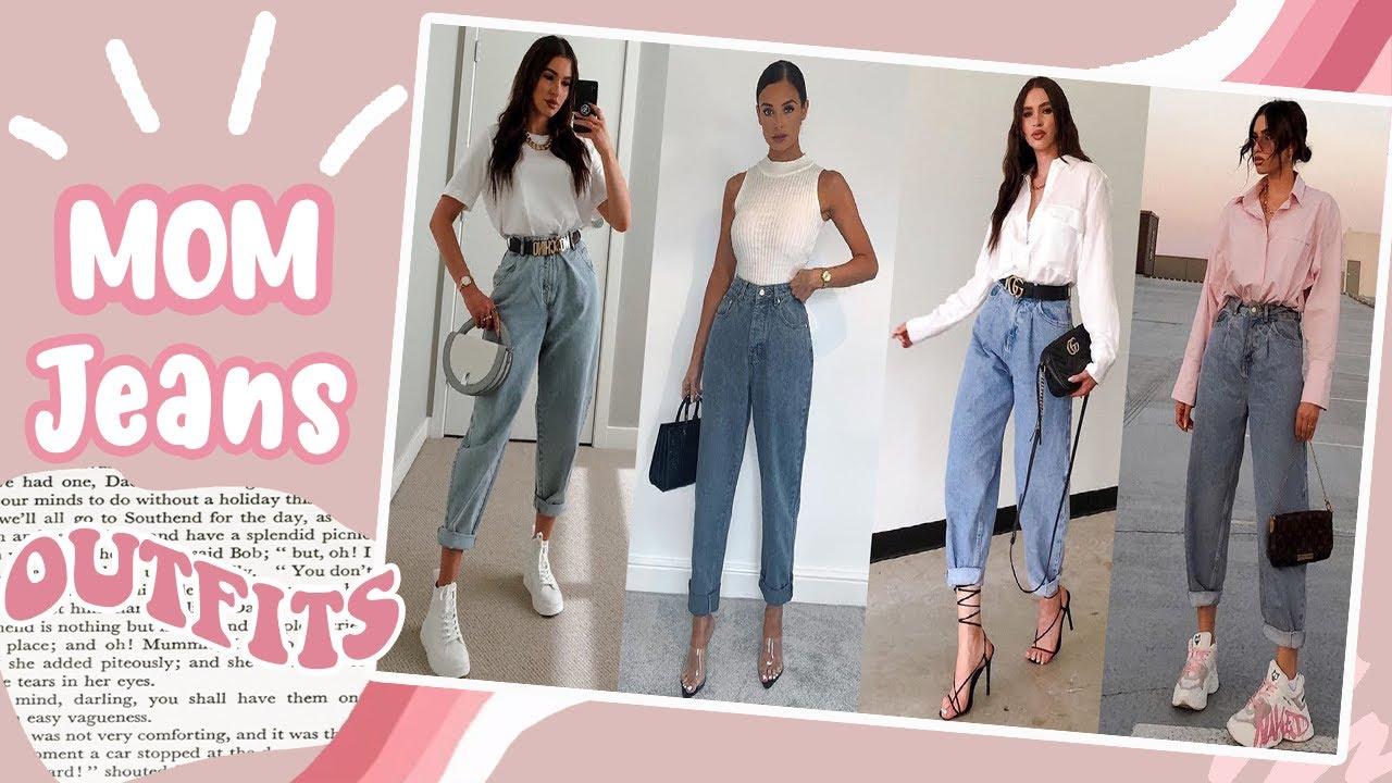 Outfits Con Mom Jeans 2020 Moda Primavera Verano Mujer Juvenil 2020 2021 Moda Y Maquillaje Youtube