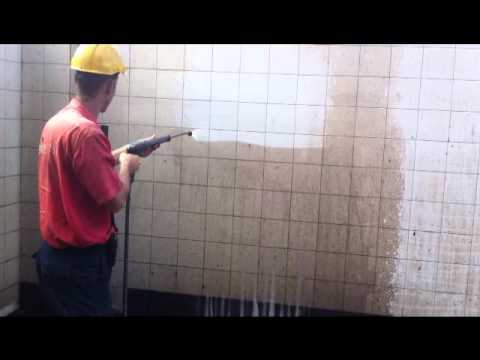 prueba de limpieza suciedad incrustada en azulejos - YouTube