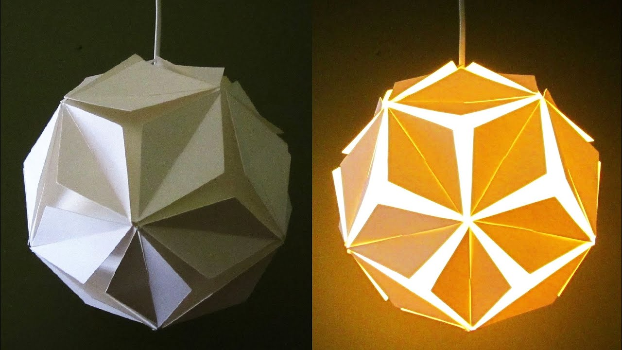 DIY pendant lamp/lantern (5 petals) - home and room decor - EzyCraft -  YouTube